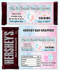 GENDER REVEAL PARTY FAVORS CANDY BAR WRAPPERS HERSHEY BAR WRAPPERS