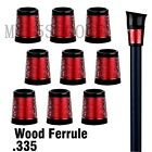 Golf Red Custom Golf .335 Ferrule for Driver and Fairway Wood OEM ODM Available