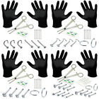 BodyJ4You 15PC Professional Piercing Kit 18G 20G Nose Rings Studs Body Jewelry image