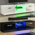 Cosmo LED TV Unit 2 Door Gloss Matte MDF Entertainment Stand Furniture 160cm