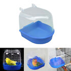 Bird Water Bath Tub For Pet Bird Cage Hanging Bowl Parrots Parakeet Birdbath US