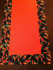 Fiesta Cinco de Mayo Red Chili Pepper Cotton Table Runner by ThemeRunners