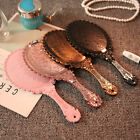 Girls Mirror Makeup Gifts Cosmetic Dress-up Vintage Retro Portable Oval 25x11cm