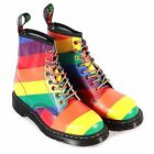 Dr Martens Unisex 1460 Pride Backhand Leather Lace Up Boot White / Multi