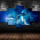 Star Trek Starship Enterprise Framed Canvas Wall Art Home Decor 5 Piece on eBay