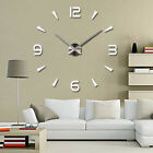Nordic Large Wall Clock Big Watch Decal 3D Stickers Modern Home Wall Decoration