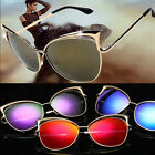 Fashion Women Cat Eye Shape Glasses Metal Frame Vintage Sunglasses Eyewear