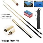 WOODEN POOL SNOOKER BILLIARD CUE SET 2x Two Piece Cues with Screw $29.79 AUD on eBay