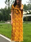 ZARA YELLOW FLOWING CHIFFON MAXI LONG A LINE FLORAL PRINT PLEATED DRESS 7521/045