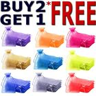 25 & 50 Organza Bags Wedding Party Favour Gift CandyJewellery Pouch Large Small