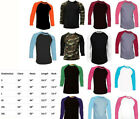 Kyпить New Long Sleeve Raglan Baseball Mens Plain Tee Jersey Team Sports T-Shirt S-3XL на еВаy.соm