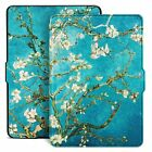 For Kindle Paperwhite 1 2 3 4 Case Blossom Painting Smart Protective Auto Skin