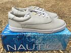 NEW Nautica Canvas Deck Shoes Men's Moonstruck Grey Lace Oxford Boat NM260U