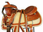 PREMIUM TOOLED PLEASURE TRAIL 16 15 WESTERN HORSE BROWN LEATHER SADDLE PACKAGE