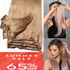hair extensions real remy 8pcs clip in 100 human weft long black brown blonde p