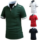 Mens Stylish URBAN CULURE Short Sleeve Pique Polo Casual Collar T-Shirts W08 S-L