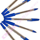 NEW BLUE INK COLOUR BIRO BALLPOINT BALL POINT PENS *MULTI QTY LISTING*