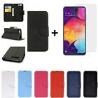 COVER for SAMSUNG GALAXY A20e CASE WITH BOOK WALLET + GLASS FILM