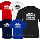 In My Defence I Was Left Unsupervised T-shirt Funny Humour Fun Mens Ladies Kids., usado segunda mano  Embacar hacia Spain