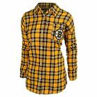FOCO NHL Women's Boston Bruins Wordmark Basic Flannel Shirt $34.99 USD on eBay
