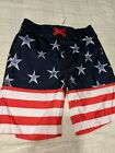 Cat and Jack Boys Swim Trunks Patriotic Flag  Mesh Lined NEW without tags