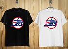 New Winnipeg Jets 80's NHL Retro Logo Men's T-Shirt Black White S-2XL $18.0 USD on eBay