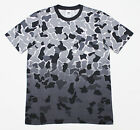 $40 NWT ADIDAS Gray Camouflage Cotton-Jersey Dipped-Dye Gradient Tee T-Shirt