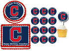 Cleveland Indians  Edible Birthday Party Cake Topper Plastic Cupcake Picks on Ebay