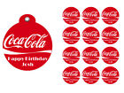 Coca-Cola Birthday Party Favor Gift Tags Round Labels Sticker Vinyl Glossy $6.0  on eBay