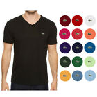 Lacoste Men's Pima Cotton Short Sleeve V Neck Athletic T-Shirt <br/> QUICK & FREE SHIPPING and FREE RETURNS, 100% AUTHENTIC.