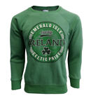 Sweatshirt Green Marl Ireland Celtic Design Pride Raglan Sleeves Ribbed Trim