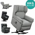 OAKFORD ELECTRIC RISE RECLINER BONDED LEATHER ARMCHAIR LOUNGE MOBILITY CHAIR