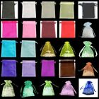 10 / 25 / 50 / 100 PCS Organza Bags Jewellery Pouches 11x16cm Various Colour UK