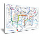 London Tube Map Canvas Modern Home Art ~ 5 Size
