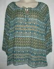 Faded Glory Women 2 Pc Peasant Top Blouse with Cami Tank Plus Size 1X 2X 4X