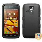 For Kyocera Hydro Icon / Hydro Life TUFF ARMOR CASE Rubberized Hard Cover