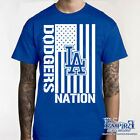 LA DODGERS T-SHIRT LOS ANGELES BASEBALL SHIRT GLOVES LA (NEW) NICE TEE  s8 on Ebay