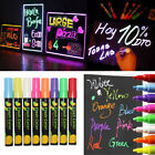 Liquid Chalk Markers 8 Colors Erasable Chalkboard Pen Blackboard or Glass nEW