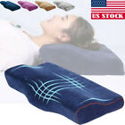 Us Stock Contour Memory Foam Pillow Orthopedic Sleeping Ergonomic For Neck Pain