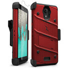 For Wiko Ride Holster BOLT  Stand Case Cover + Glass