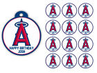 Los Angeles Angels Birthday Party Gift Tags Round Labels Stickers Glossy Vinyl on Ebay