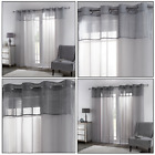 Sparkle Glitter Shimmer Voile Net Curtains Panel Eyelet/Ring Top Panels PAIR