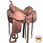 15 in 16 in 17 in 18 in Western Horse Treeless Saddle Leather Trail U-10RO