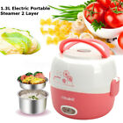1.3L Exciting Portable Lunch Box Rice Cooker Steamer 2 Layer Stainless Steel #