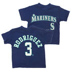 MLB Boys Girls Toddler Seattle Mariners Alex Rodriguez #3 Vintage Tee, Navy on Ebay