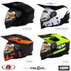 New 2020 509 Delta R3 2.0 Snowmobile Helmet Electric Shield Black Orange Hi-vis