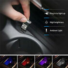 3xMini Lamp Bulb Accessories USB LED Car Interior Light Neon Atmosphere Ambient