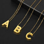 """Womens Gold Stainless Steel Slide Alphabet Initial Letter Pendant Necklace 18"""""""