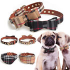 Dog Cat Adjustable Necklace Bow Tie Leather Collars Puppy Kitten Pet Accessories