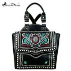 Montana West Embroidered Backpack with Saddle Stitch and Silver and Crystal Stud image